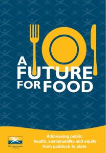 Cover page of the 'Future for Food' report