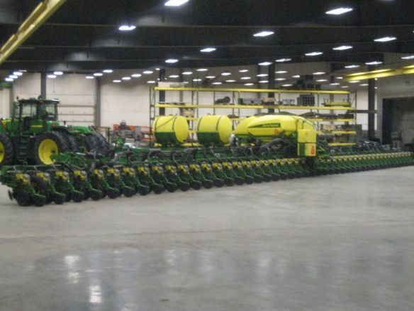 The Technology Treadmill. John Deere's new 48-row planter. From: combineforums.proboards.com