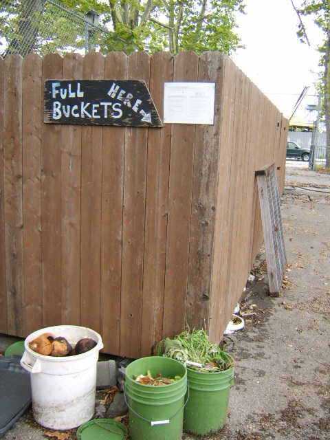 Composting at Red hook farm NY