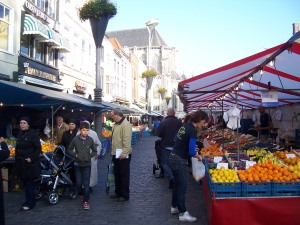 Market in city of Breda
