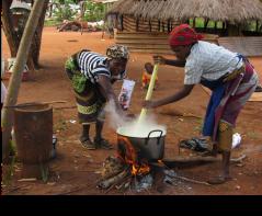 Mozambican women cooking (Birgit Boogaard, ILRI)
