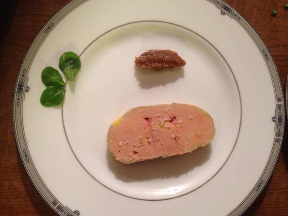 France foie gras de canard with fig jam