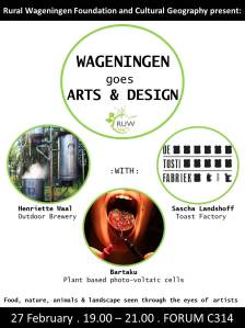 Poster Wageningen Goes Arts and Design