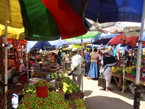 Colourful market Dar es Salaam