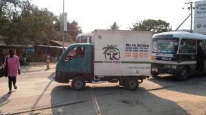 Distribution of the milk around Dar es Salaam