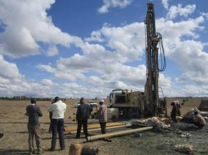 Drilling a borehole - A large-scale investment for Maasai households.