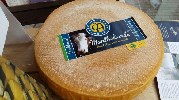 Montbeliarde cheese made by the Meester Affineurs nearby Wageningen