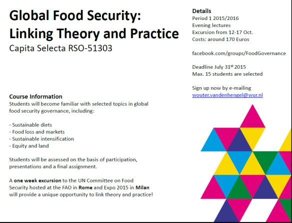 Global Food Security Governance