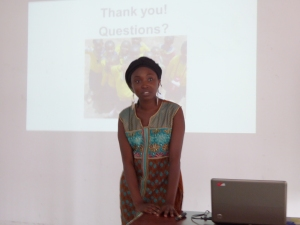 Students gave presentations about agricultural transformation in their home countries