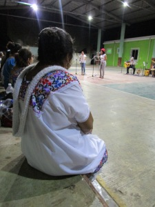 Mayan women in a concert of the Ma OGM campaign. Source Maria Boa