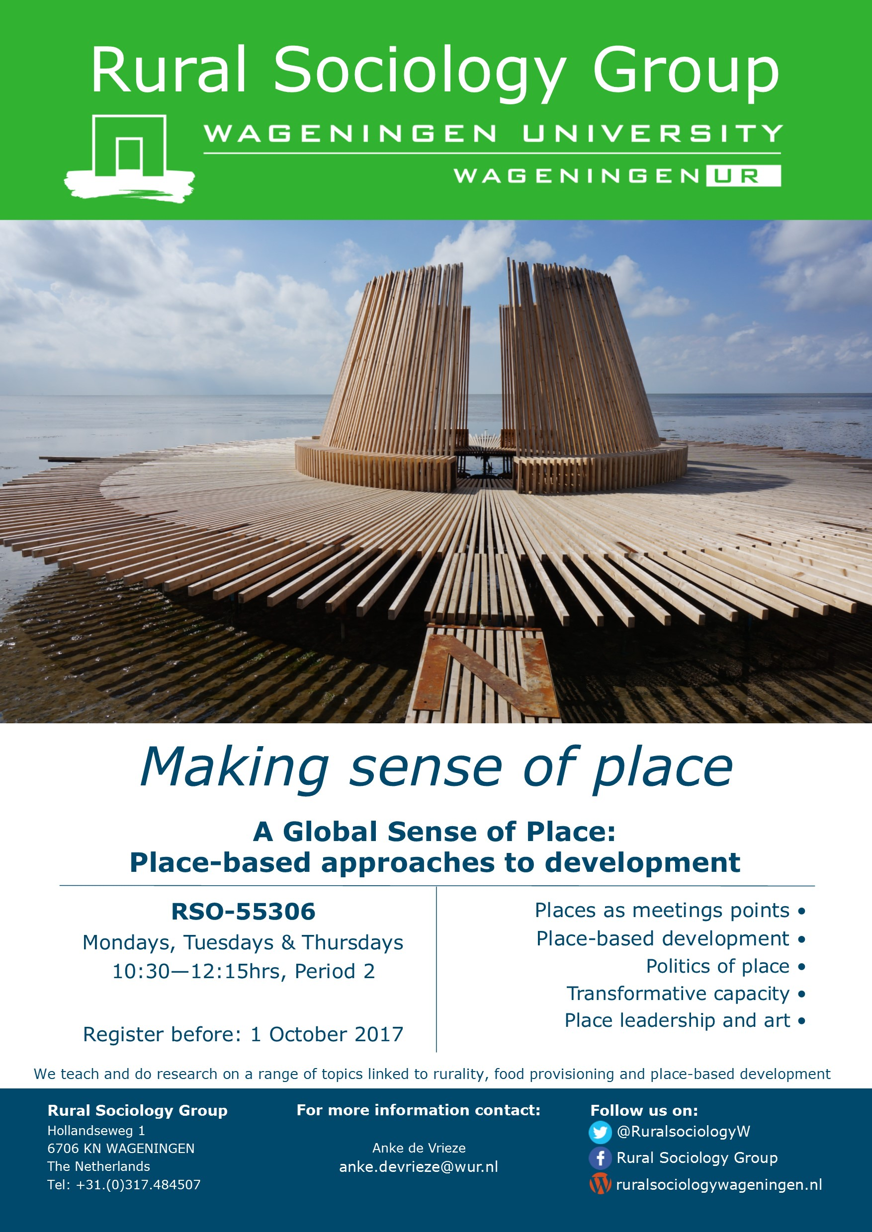 A Global Sense of Place' – register now! | Rural Sociology