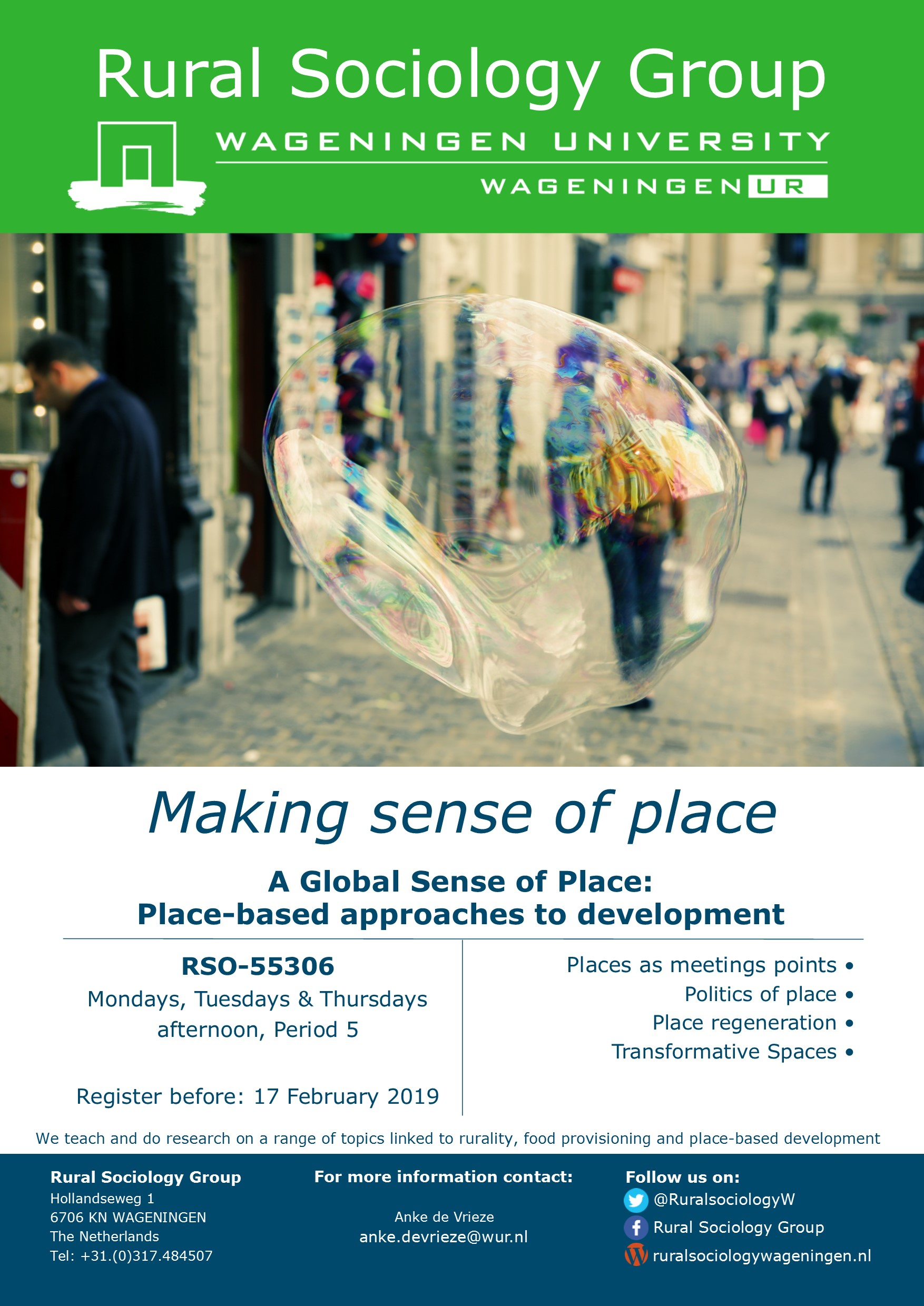 Interested in space & place? Register now for 'A Global